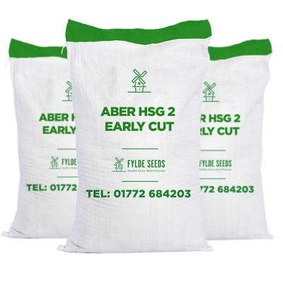 Aber HSG 2 Early Cut grass seeds bags