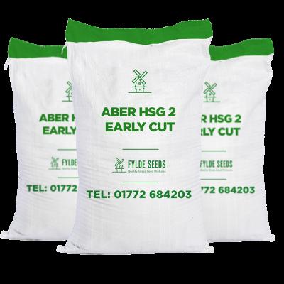 Aber HSG 2 Early Cut grass seeds bags