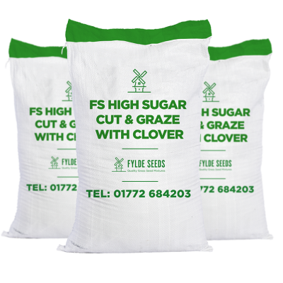 FS High Sugar Cut & Graze grass seeds with Clover