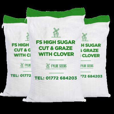 FS High Sugar Cut & Graze grass seeds with Clover