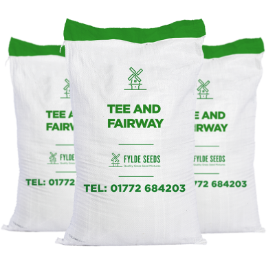 Tee and Fairway grass seed bags